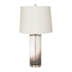 Smoked Gray Glass Table Lamp