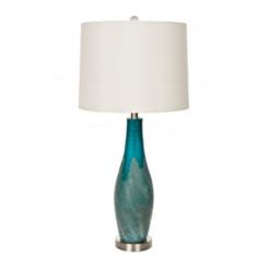 Blue Dalian Glass Table Lamp