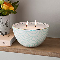 Agave and Coconut Water Ceramic Bowl Candle