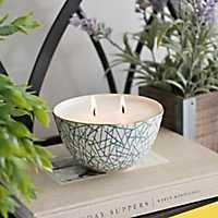 Indigo Sea Salt Ceramic Bowl Candle