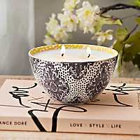 Midnight Plum Ceramic Bowl Candle