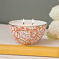 Sugared Mandarin Ceramic Bowl Candle