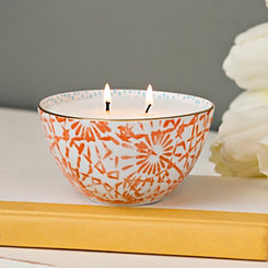 Sugared Mandarin Ceramic Bowl Candle