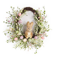 Pastel Egg and Rabbit Wreath
