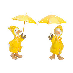 Rainy Day Duck Figurines, Set of 2