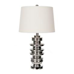 Chrome Mercury Glass Table Lamp