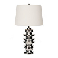 Chrome Mercury Glass Table Lamp