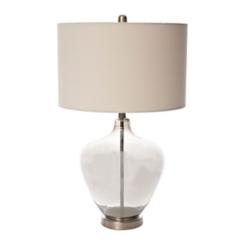 Smoke Glass Jar Table Lamp