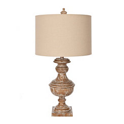 Aged Cane Table Lamp