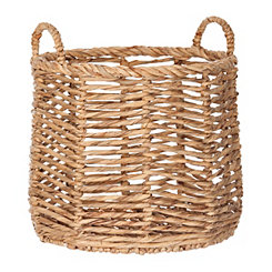 Herringbone Hyacinth Basket, 20 in.