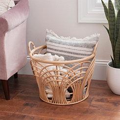 Woven Sunrise Rattan Basket