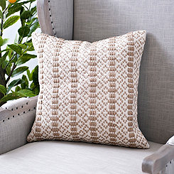 Jute and Cotton Textured Pillow