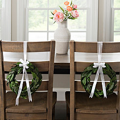 Preserved Magnolia Wreaths, Set of 2