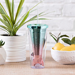 Turquoise Mermaid Tail Tumbler