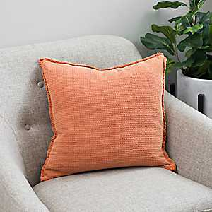 Sand Washed Orange Pillow