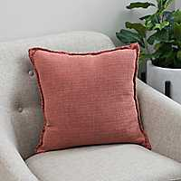Sand Washed Red Pillow