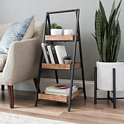 Metal and Wood 3-Tier Stand