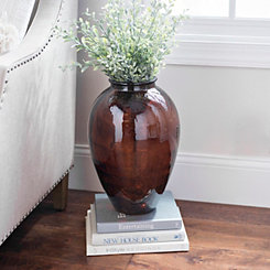 Amber Recycled Glass Vase