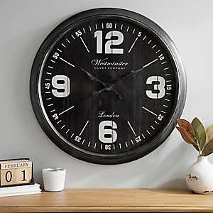 Brushed Black Wall Clock