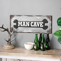 Man Cave Wrench Wall Plaque