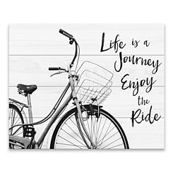 Life is a Journey Wood Art Print