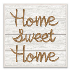 Home Sweet Home Roped Wood Art