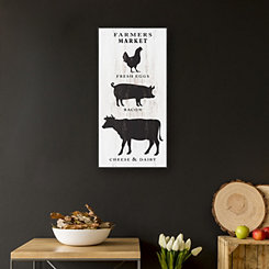 Farmer's Market Wood Art Print