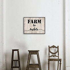 Farm to Table Wood Art Print