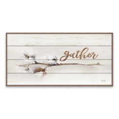 Gather Cotton Stem Wood Art Print