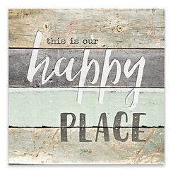 Happy Place Wood Art Print