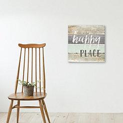 Happy Place Wood Art Print