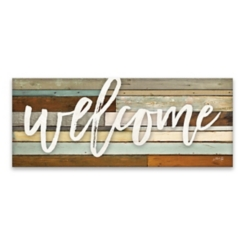 Welcome Wood Art Print