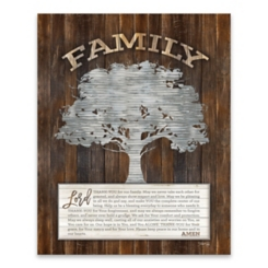 Family Prayer Tree Wooden Box Plaque