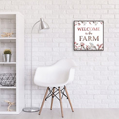 Welcome to the Farm Recessed Box Framed Art Print