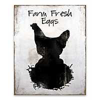 Farm Fresh Eggs Wooden Box Plaque