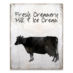 Fresh Creamery Milk Wooden Box Plaque