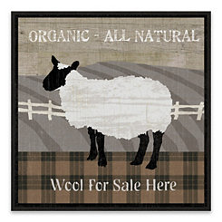 Buttermilk Farm Recessed Box Framed Art Print