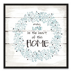 Heart of this Home Recessed Box Framed Art Print