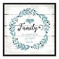 Family Love Joy Recessed Box Framed Art Print