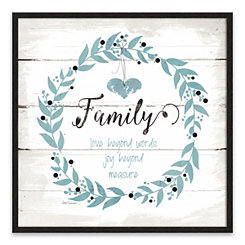 Family Love Joy Recessed Box Framed Art Print