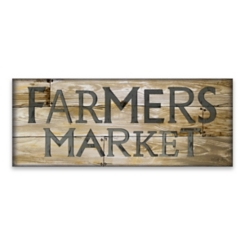 Farmer's Market Wooden Box Plaque