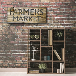 Farmer's Market Wooden Box Plaque