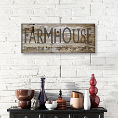 Farmhouse Wooden Box Plaque