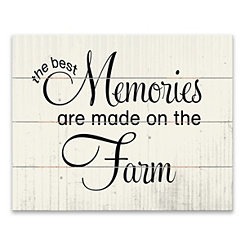 Best Memories Wood Pallet Art Print