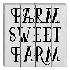 The Farm Life Wood Pallet Art Print
