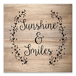 Sunshine and Smiles Wood Art Print