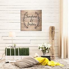 Sunshine and Smiles Wood Art Print