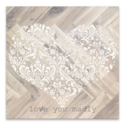 Love You Madly Wood Art Print