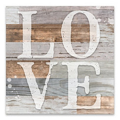 Rustic Love Wood Art Print