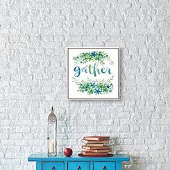 Hand Embellished Gather Framed Canvas Art Print